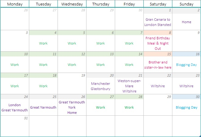 """A spin on my usual monthly """"plans and goals"""", this month I will be sharing what I've been up to, what's to come and how I've been doing with my health."""